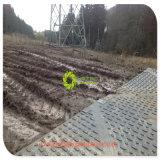 ISO 증명서 UHMWPE 기중기 발 지원 HDPE 임시 도로 매트