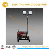 Motor eléctrico o el Diesel Mobile iluminación de elevación de la torre de la luz de coche