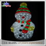 Die meiste Compeitive Preis-Weihnachten beleuchtete AcrylSchneemann-Motiv-Leuchte