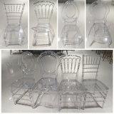 Resina de plástico transparente de alta qualidade, cadeiras cadeira transparente