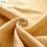 Tela decorativa tejida lino del poliester para el sofá