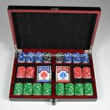 300 набор микросхем покера глины PCS 8-Gram составной в черной коробке лака