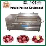 O peeling de batata de pele vermelha industriais e de equipamento de lavagem de batata máquina de rebentamento