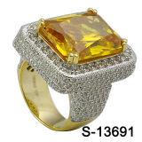 925의 순은 루비에 있는 큰 돌을%s 가진 마이크로 조정 CZ 남자 반지 최신 판매