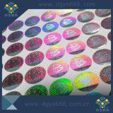 Impressão da etiqueta do laser do efeito do arco-íris