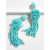 Accessoires de Mode Perles Hand-Woven Tassel Earring flocon de neige Pop perlé Earrings