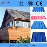 Folha de aço ondulada galvanizada revestida cor da telhadura de PPGI
