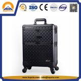 Casella di alluminio nera multifunzionale di trucco della cassa del carrello (HB-2017)