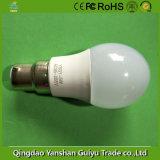 B Base22 5W lâmpada LED com corpo de plástico e alumínio