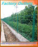Cerca soldada cubierta PVC galvanizada del jardín del acoplamiento de alambre