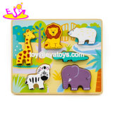 Les animaux de zoo en bois d'enseignement personnalisé pour les enfants de Puzzle W14D089