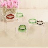 Canalisations verticales acryliques de forme claire d'U pour le présentoir de bijou