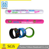 Custom Cheap Logo Silicone Slap Rubber Bands