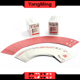 Cartes de commerce faites sur commande bleues de constructeur de papier de faisceau de jeu de casino de MOQ 5k de carte de noir fait sur commande de casino Ym-PC03