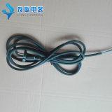 2 Контакты европейского шнур питания с помощью резинового кабель (JT002)