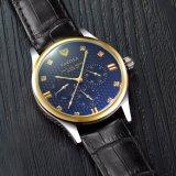 Reloj de lujo del calendario 374 del reloj clásico del cuarzo para los hombres