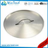 Crisol de las existencias de la inducción del vapor del equipo de la cocina del acero inoxidable de 03 estilos con la parte inferior del emparedado