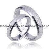 Anillos vendedores calientes plateados blanco coreano del anillo de los pares