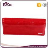 Бумажник женщин оптовой продажи типа самой новой конструкции роскошный, красная повелительница Бумажник кожи коровы