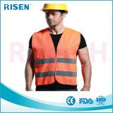 La insignia promocional del paño reflexivo del poliester imprimió el alto chaleco de la seguridad de la visibilidad