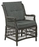 庭の枝編み細工品かセットされる藤の家具- Ln-2063