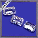 9*7 E/F effacent le diamant blanc de Moissanite de coupure d'émeraude de Crisscut