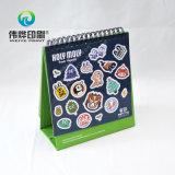 Печатание высокого качества бумажное рекламируя календар