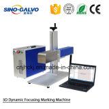 машина Sg7210-3D маркировки лазера волокна 3D для гравировки металла глубокой