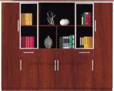 Gabinete de arquivo de madeira vertical da porta 4 de vidro (HX-5001)