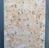 Pedra de quartzo artificial de cor branca, bancada de quartzo de cristal branco
