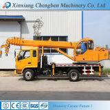Camion mobile di fabbricazione della Cina dell'asta idraulica dorata della gru con la gru 10 tonnellate da vendere