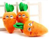 Zanahoria patrón de peluche y juguete chillón de juguete relleno para el perro