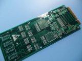 Conector de borda Electroplate Placa de Circuito de PCB Soldermask Verde de 4 camadas