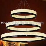 Círculo de colgante iluminación acrílico fabricado en China
