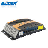Suoer Controlador de carga do sistema de energia do painel solar 12V 24V 40A controlador solar (ST-C1240)