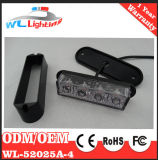 Indicatore luminoso infiammante dello stroboscopio del supporto della superficie esterna dei 4 LED per la polizia