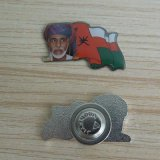 Regalos impresos del día nacional del jeque de Omán Pin de la insignia del metal