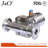 Válvula de diafragma sanitaria neumática del acero inoxidable con el actuador