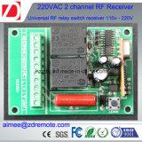 2channel 220V AC Wireless RF Remote Control Switch Receptor de rádio