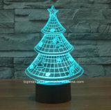 3D錯覚夜ライトChirstmasの木のホーム装飾の電気スタンド