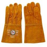 Long croûte de cuir de vache de la soudure des gants de protection de la main Gaozhou usine, la Chine