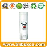 Runder Wodka-Behälter, Metallwein-Dose, Whisky-Zinn-Kasten