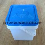 пластмасовый контейнер квадрата качества еды 5L с ручкой