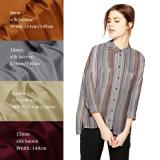 El diseñador colorido imprimió la tela de seda el 100% pura de 8m m 10m m 12m m 15m m Habotai para la ropa