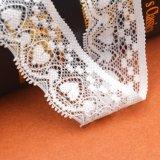 Tecido de renda de lingerie de Guangzhou para folhas de borracha elástica