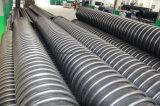 Tubo de enrolamento em espiral de plástico HDPE para drenagem