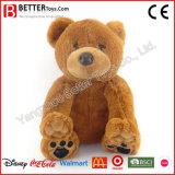 Giocattolo molle dell'orso dell'orsacchiotto della peluche dell'animale farcito dell'abbraccio dei capretti