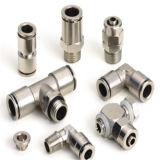 PU tubo neumático de montaje de metal