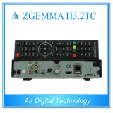 Zgemma H3.2tc com Bcm7362 Dual receptor satélite híbrido duplo do ósmio Enigma2 do linux dos afinadores do núcleo DVB-S2+ 2*DVB-T2/C