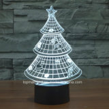 Ilusión 3D luz de la noche de Chirstmas Árbol de la decoración del hogar Lámpara de escritorio